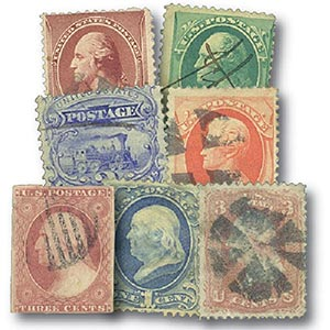 1853-1883, 100 Years Old, 7 stamps, Used