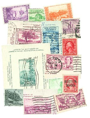 1916-37 14 Imperf. Stamps, used