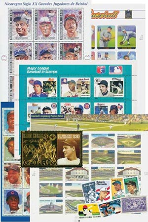 US & Foreign Mint Baseball Stamp Offer