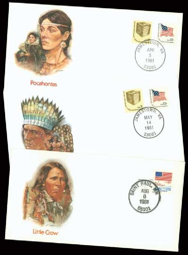 Indian Chiefs Cacheted Covers 10v