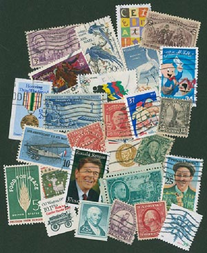 U.S. Used Stamp Collection - 157 stamps