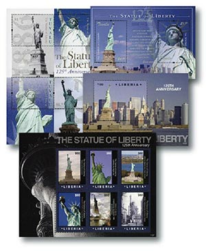 2011 Statue of Liberty Stamp Collection