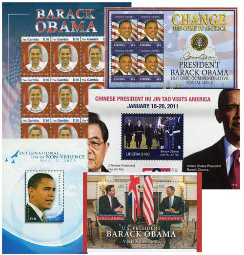 Barack Obama Stamp Collection