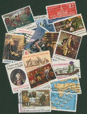 """""""Get Every Bicentennial"""" 44 Stamps used"""