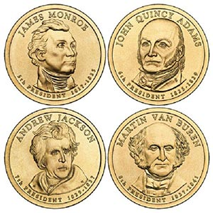 2008 $1 President Coins