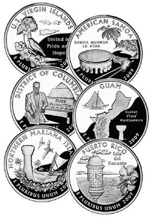 2009 U.S. Quarters, 6 variety
