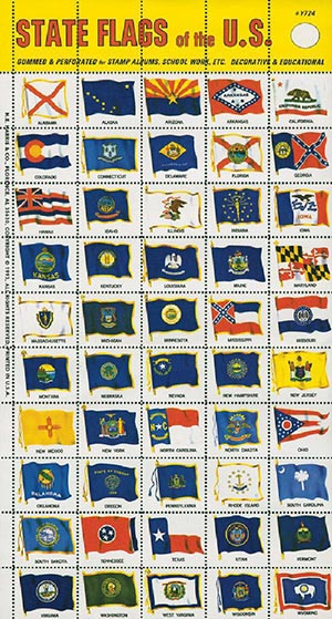 State Flags of the US Sheet of 50 (labels)