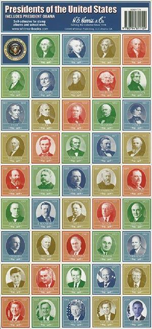Presidents of the US Seals 44v sheet (labels)