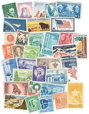 100 Mint U.S. Stamps