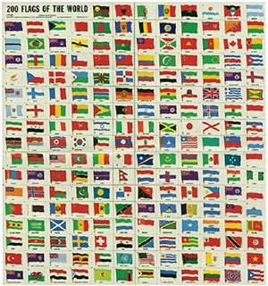 150 Flags of the World Labels
