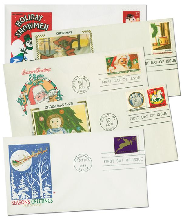 Holiday FDC's 10v Unaddressed