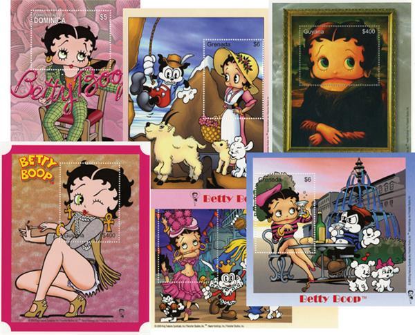 Betty Boop, 6 Souvenir Sheets