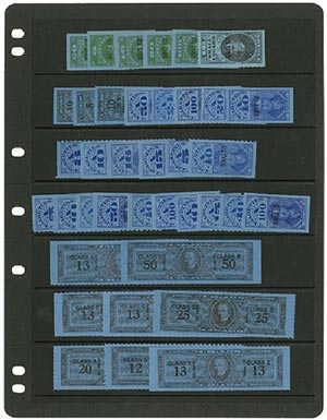 1953-55 US Revenue Tax Paid Stamps, Mint, Set of 39