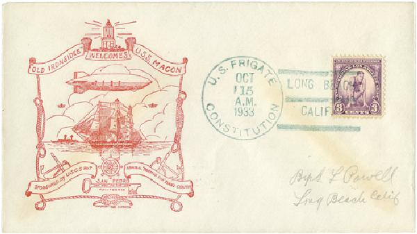 1933 USS Macon Event Cover, Oct 15 1933