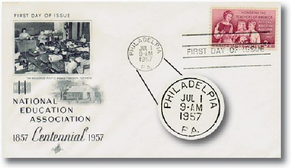 1957 #1093 US First Day Cover w/Misspelled Postmark
