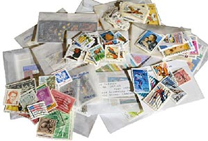 U.S. and Foreign - Set of 25 Different Stamps