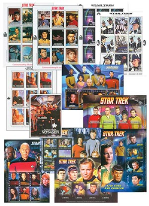 Item #M11327 – Collection of 50 mint Star Trek stamps.