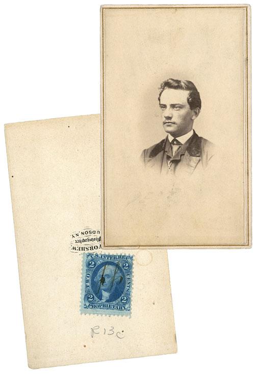 Authentic Civil War Era Photograph, Revenue Stamps on Reverse