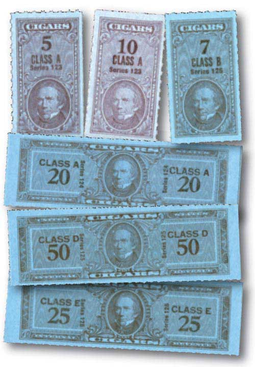 1953-55 Taxpaid Cigar Stamps 50v Mint