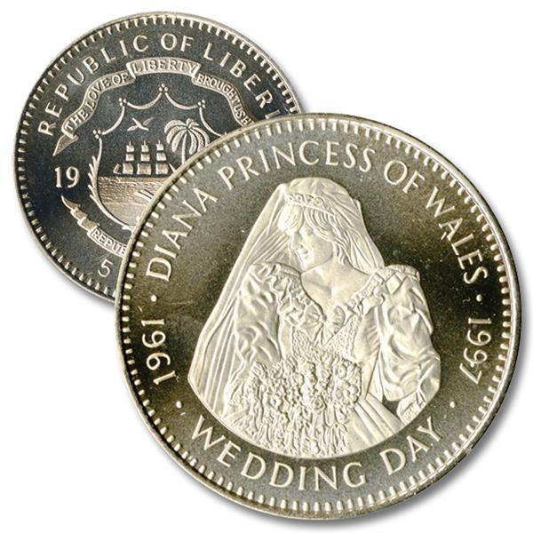 The Royal Wedding, Diana the Princess of Wales Cupronickel Coin