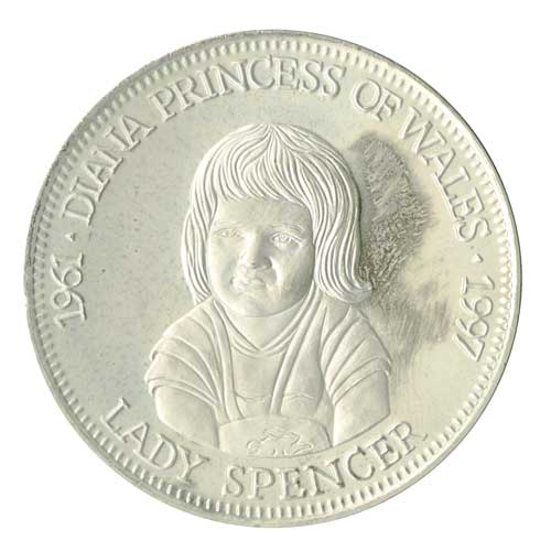 Diana Birth of Lady Spence, Cupronickel