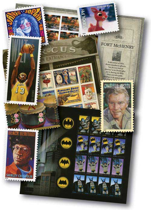 2014 Giant US Mint Stamp Collection, 190 stamps