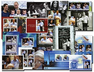 Prince George 17 Mint Stamp Sheets