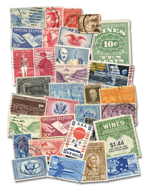 US Back-of-the-Book Stamps - 155 stamps issued from 1861-1965
