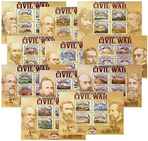 2011 set of 11 Civil War Sheets
