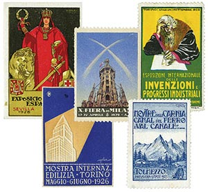 5 Different Foreign Poster Stamps