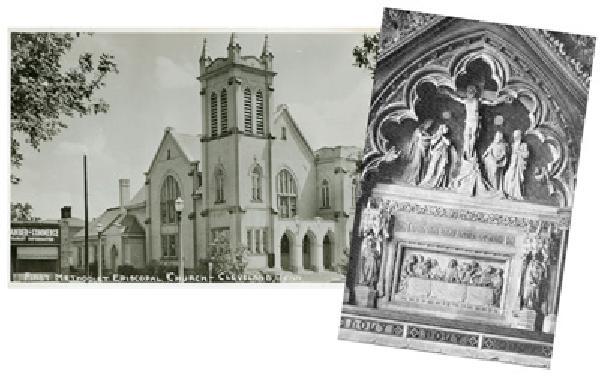 Set of three photo postcards.