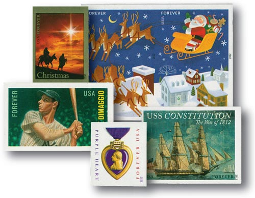 2012 Imperf Stamps, Set of 15