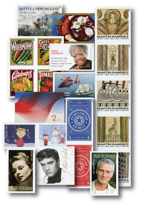 2015 Imperf Stamps, Set of 68
