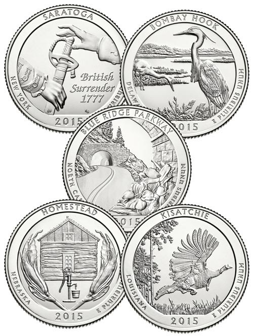 2015 US Natl. Park Quarters D Mint