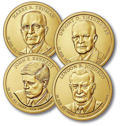 2015 $1.00 US President Coins  (4)