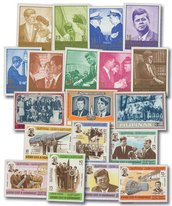 The JFK Collection, Mint, Set of 19 Stamps