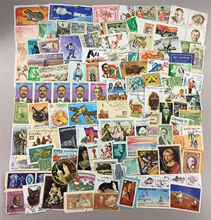 1 Pound Foreign Stamp Grab Bag