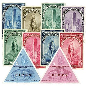 10 Philatelic Exposition Poster Stamps