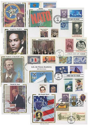 25 Different Silk Combo FDC's