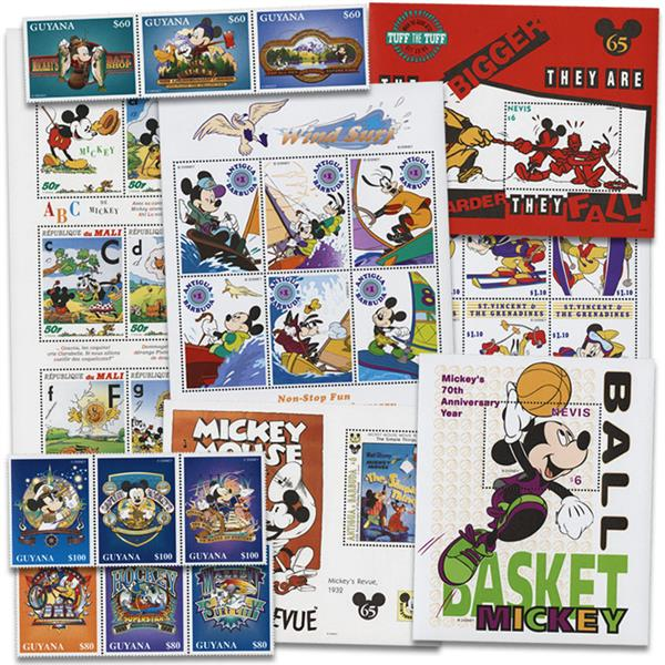 Mickey Mouse Stamps, Set of 56