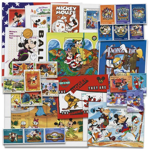 Mickey Mouse Stamps, Set of 157
