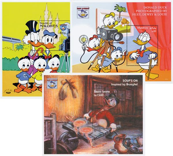 Donald Duck Stamps, Set of 43