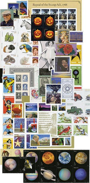 2016 Giant US Commemorative Collection, Mint, 152 stamps