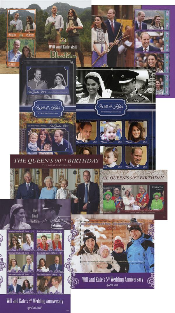 2016 The Royal Family-4 sheets & 4 s/s