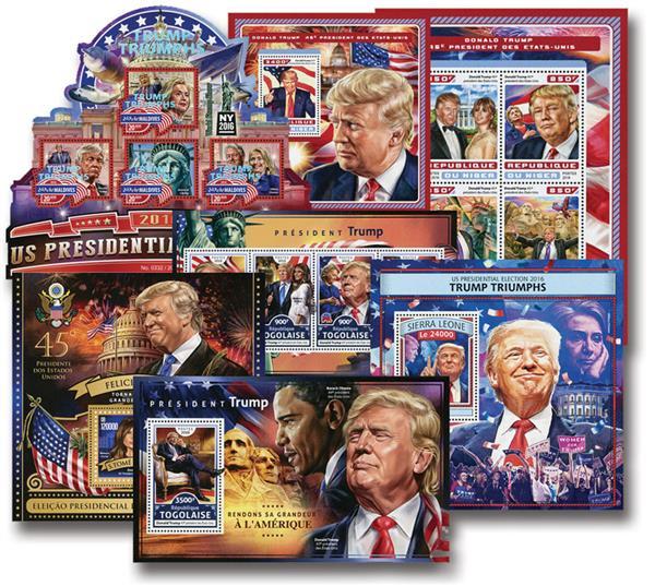 45th Pres. Trump set of 3 sheets & 4 s/s