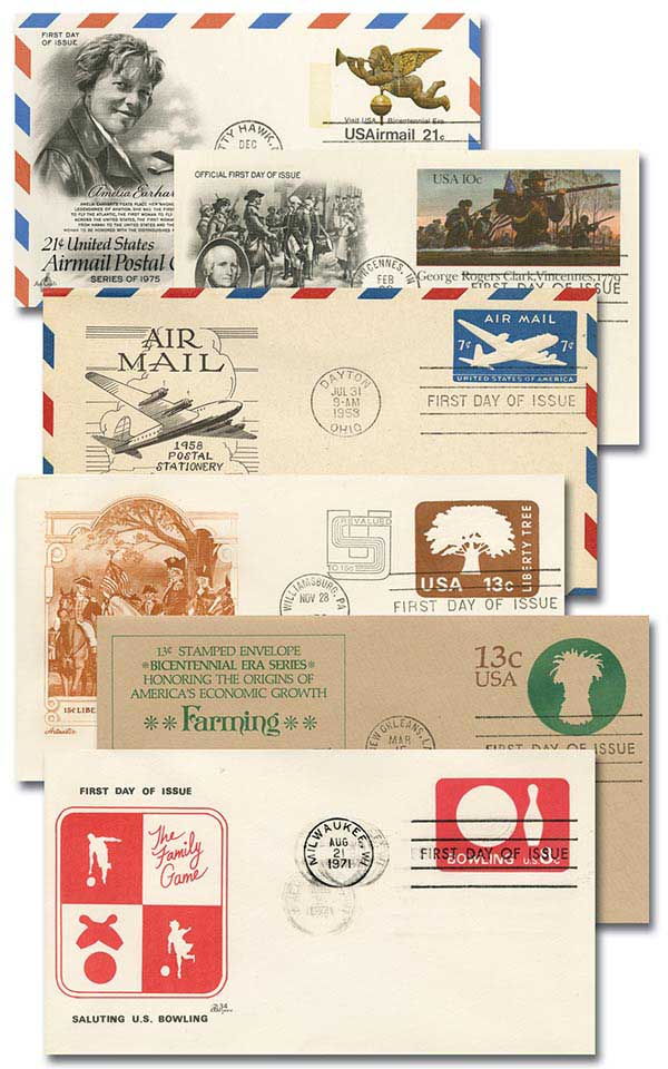 1940s-to Present FDC Postal Stationary - Over 50 Different