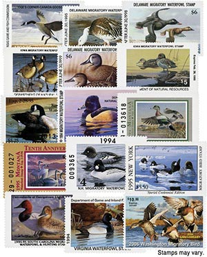 Sate Duck Stamp Collection, Mint, Set of 15 Stamps