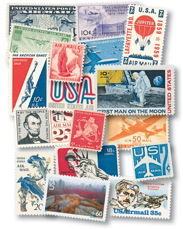 1926-2012 US Airmail Collection, 142 Stamps, Unused