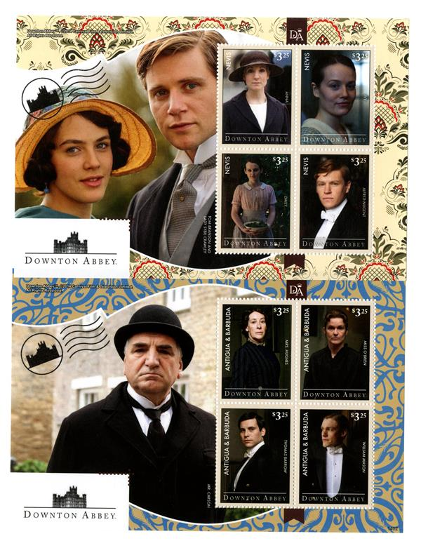 2014 Downton Abbey, 2 Sheets from Antigua and Nevis