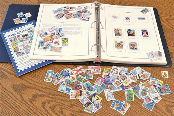 Mystic's Historic Postage Stamps of the United States Album with 100 US Postally Used Stamps & 1000 Hinges